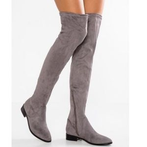 Aldo Suede over the knee boots